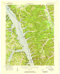 Golden Pond Kentucky Historical topographic map, 1:62500 scale, 15 X 15 Minute, Year 1955