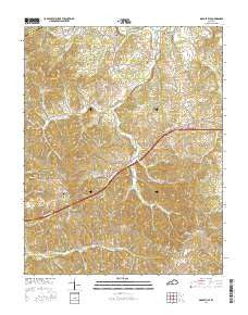 Gradyville Kentucky Current topographic map, 1:24000 scale, 7.5 X 7.5 Minute, Year 2016