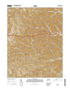 Grahn Kentucky Current topographic map, 1:24000 scale, 7.5 X 7.5 Minute, Year 2016