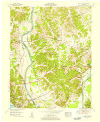 Grand Rivers Kentucky Historical topographic map, 1:24000 scale, 7.5 X 7.5 Minute, Year 1955