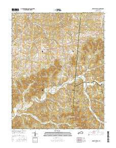 Gravel Switch Kentucky Current topographic map, 1:24000 scale, 7.5 X 7.5 Minute, Year 2016