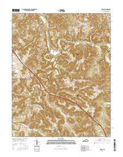 Hadley Kentucky Current topographic map, 1:24000 scale, 7.5 X 7.5 Minute, Year 2016 from Kentucky Maps Store