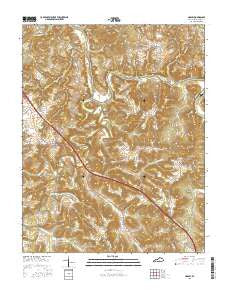 Hadley Kentucky Current topographic map, 1:24000 scale, 7.5 X 7.5 Minute, Year 2016