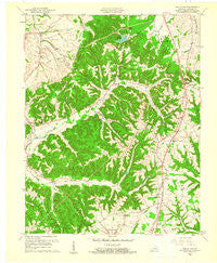 Halls Gap Kentucky Historical topographic map, 1:24000 scale, 7.5 X 7.5 Minute, Year 1961