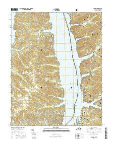 Hamlin Kentucky Current topographic map, 1:24000 scale, 7.5 X 7.5 Minute, Year 2016