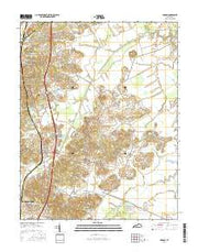 Hanson Kentucky Current topographic map, 1:24000 scale, 7.5 X 7.5 Minute, Year 2016 from Kentucky Maps Store