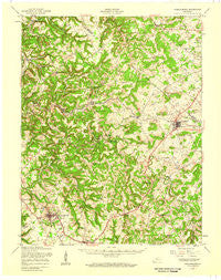 Hardinsburg Kentucky Historical topographic map, 1:62500 scale, 15 X 15 Minute, Year 1947