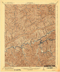 Harlan Kentucky Historical topographic map, 1:62500 scale, 15 X 15 Minute, Year 1919