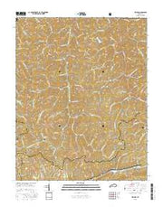 Helton Kentucky Current topographic map, 1:24000 scale, 7.5 X 7.5 Minute, Year 2016 from Kentucky Maps Store