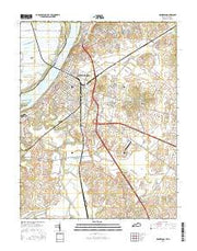 Henderson Kentucky Current topographic map, 1:24000 scale, 7.5 X 7.5 Minute, Year 2016 from Kentucky Maps Store