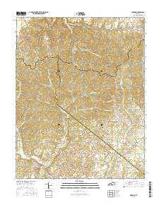 Hibernia Kentucky Current topographic map, 1:24000 scale, 7.5 X 7.5 Minute, Year 2016