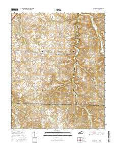 Hickory Flat Kentucky Current topographic map, 1:24000 scale, 7.5 X 7.5 Minute, Year 2016