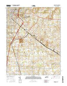 Hopkinsville Kentucky Current topographic map, 1:24000 scale, 7.5 X 7.5 Minute, Year 2016