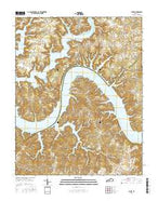 Jabez Kentucky Current topographic map, 1:24000 scale, 7.5 X 7.5 Minute, Year 2016 from Kentucky Map Store