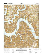Jabez Kentucky Current topographic map, 1:24000 scale, 7.5 X 7.5 Minute, Year 2016 from Kentucky Maps Store