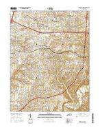 Jeffersontown Kentucky Current topographic map, 1:24000 scale, 7.5 X 7.5 Minute, Year 2016 from Kentucky Map Store