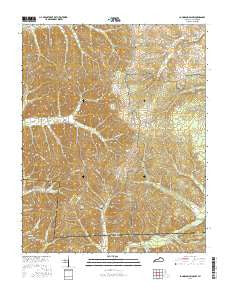 Johnson Hollow Kentucky Current topographic map, 1:24000 scale, 7.5 X 7.5 Minute, Year 2016