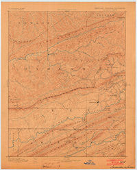 Jonesville Kentucky Historical topographic map, 1:125000 scale, 30 X 30 Minute, Year 1891
