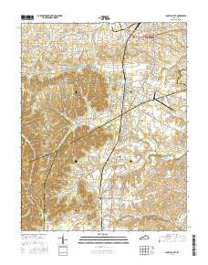 Junction City Kentucky Current topographic map, 1:24000 scale, 7.5 X 7.5 Minute, Year 2016