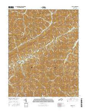 Kayjay Kentucky Current topographic map, 1:24000 scale, 7.5 X 7.5 Minute, Year 2016 from Kentucky Maps Store