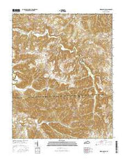 Kirkmansville Kentucky Current topographic map, 1:24000 scale, 7.5 X 7.5 Minute, Year 2016 from Kentucky Maps Store
