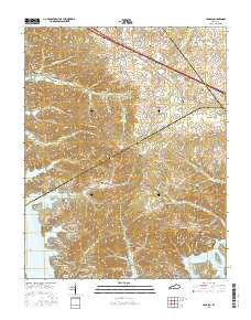 Lamasco Kentucky Current topographic map, 1:24000 scale, 7.5 X 7.5 Minute, Year 2016