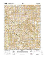 Lancaster Kentucky Current topographic map, 1:24000 scale, 7.5 X 7.5 Minute, Year 2016 from Kentucky Map Store