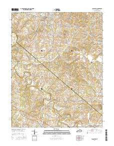 Buy topo map lancaster ky 2016 yellowmaps map store lancaster ky topo map 124000 scale 75 x 75 minute current 2016 publicscrutiny Choice Image