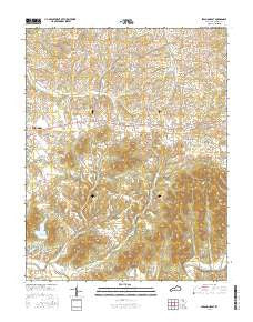 Lebanon East Kentucky Current topographic map, 1:24000 scale, 7.5 X 7.5 Minute, Year 2016