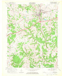 Leitchfield Kentucky Historical topographic map, 1:24000 scale, 7.5 X 7.5 Minute, Year 1967