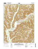 Liberty Kentucky Current topographic map, 1:24000 scale, 7.5 X 7.5 Minute, Year 2016 from Kentucky Map Store