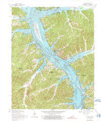 Linton Kentucky Historical topographic map, 1:24000 scale, 7.5 X 7.5 Minute, Year 1967
