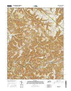 Lodiburg Kentucky Current topographic map, 1:24000 scale, 7.5 X 7.5 Minute, Year 2016