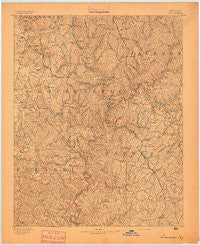 London Kentucky Historical topographic map, 1:125000 scale, 30 X 30 Minute, Year 1893
