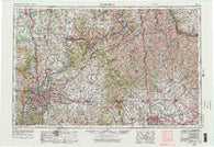 Louisville Kentucky Historical topographic map, 1:250000 scale, 1 X 2 Degree, Year 1956