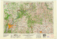 Louisville Kentucky Historical topographic map, 1:250000 scale, 1 X 2 Degree, Year 1964