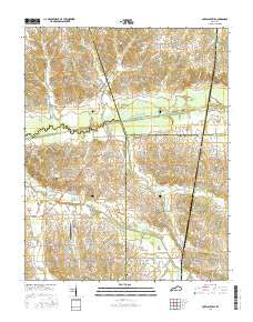 Lovelaceville Kentucky Current topographic map, 1:24000 scale, 7.5 X 7.5 Minute, Year 2016