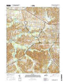 Madisonville West Kentucky Current topographic map, 1:24000 scale, 7.5 X 7.5 Minute, Year 2016
