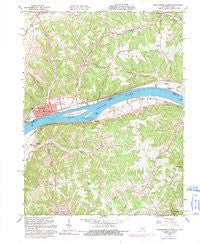 Manchester Islands Kentucky Historical topographic map, 1:24000 scale, 7.5 X 7.5 Minute, Year 1961