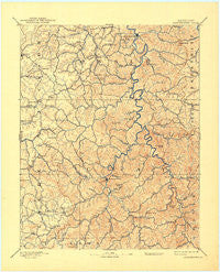 Manchester Kentucky Historical topographic map, 1:125000 scale, 30 X 30 Minute, Year 1891