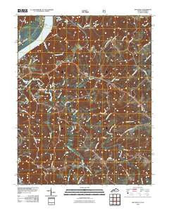 Mattingly Kentucky Historical topographic map, 1:24000 scale, 7.5 X 7.5 Minute, Year 2010