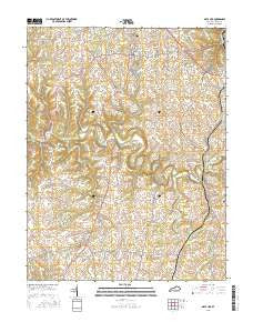 Mays Lick Kentucky Current topographic map, 1:24000 scale, 7.5 X 7.5 Minute, Year 2016