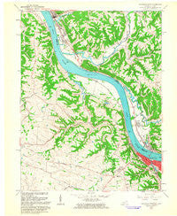 Maysville West Kentucky Historical topographic map, 1:24000 scale, 7.5 X 7.5 Minute, Year 1961