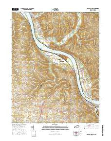 Maysville West Kentucky Current topographic map, 1:24000 scale, 7.5 X 7.5 Minute, Year 2016