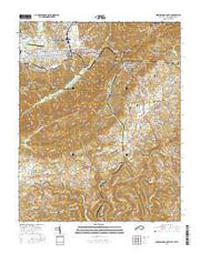 Middlesboro South Kentucky Current topographic map, 1:24000 scale, 7.5 X 7.5 Minute, Year 2016 from Kentucky Maps Store