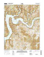 Mill Springs Kentucky Current topographic map, 1:24000 scale, 7.5 X 7.5 Minute, Year 2016 from Kentucky Maps Store