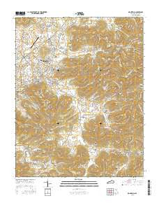 Monticello Kentucky Current topographic map, 1:24000 scale, 7.5 X 7.5 Minute, Year 2016