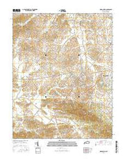 Morganfield Kentucky Current topographic map, 1:24000 scale, 7.5 X 7.5 Minute, Year 2016 from Kentucky Maps Store