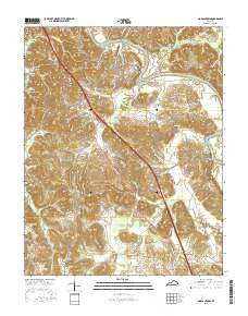 Morgantown Kentucky Current topographic map, 1:24000 scale, 7.5 X 7.5 Minute, Year 2016