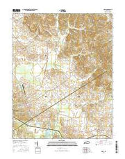 Nebo Kentucky Current topographic map, 1:24000 scale, 7.5 X 7.5 Minute, Year 2016 from Kentucky Maps Store